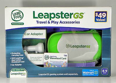Leap Frog Leapster GS Travel&Play Accy Kit w/$20 App Card Broken Seal Ships Free