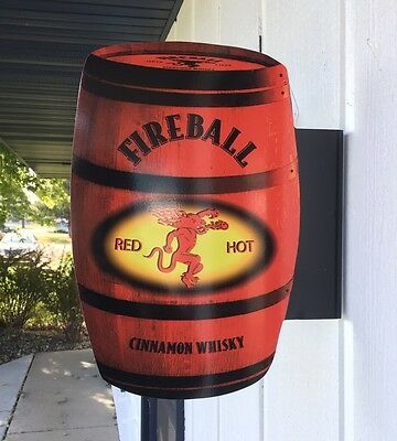 Fireball Double Sided Flange Sign