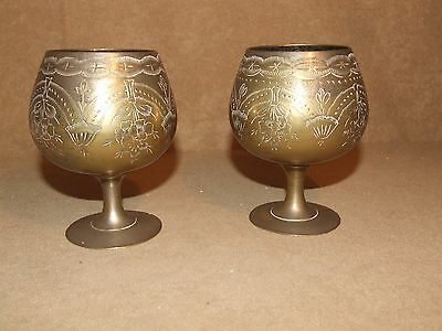 Pair Of Goblets Marked EPNS And S