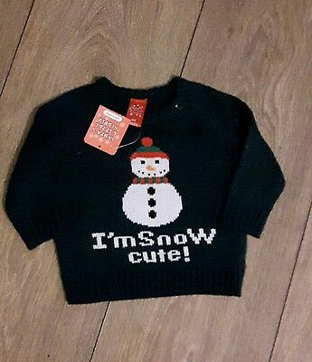Baby Boys Christmas Jumper Age 6-9 Months  New