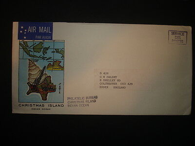 Christmas Island : Airmail Cover to England