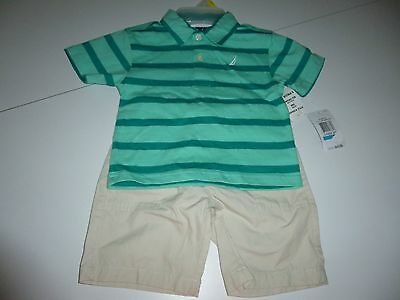 Nautica Boys 2pc Shorts & Polo Shirt Outfit  Size 24M  NWT