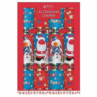 Deluxe Christmas Crackers Containing - Red & Blue (box of 12)
