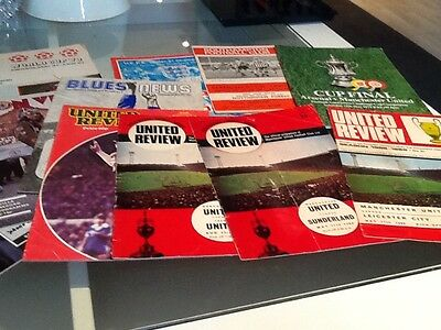 old football programmes assortment (13) some man united some england etc....