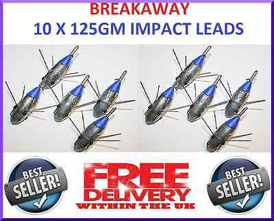 Breakaway Tackle NEW Impact Lead Weights 125g - Pack of 10