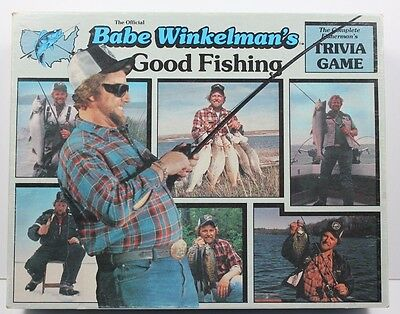 Babe Winkelman's Good Fishing Complete Firerman's Trivia Board Game Vintage 1986