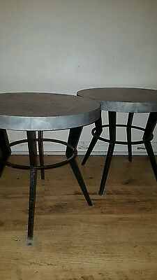 Pair of atomic 50s 60s coffee tables.