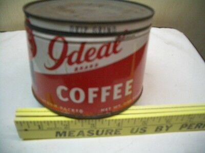 Vintage  Old-Coffee  195O,s  Tin  Found In Garage   I Deal