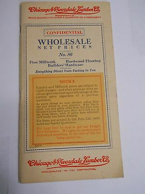Vintage, Chicago & Riverdale Lumber Co. Millwork Catalog No.86