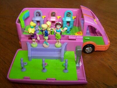 Bluebird polly pocket party bus and 3 pollys vintage
