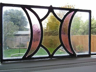 Antique Stained Glass Window Panel Architectural Salvage (1)