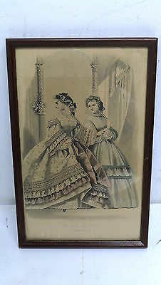 Vintage Print LES MODES PARISIENNES Feb 1896 Engraved & printed Illman Brothers