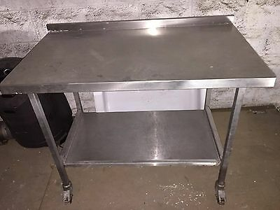 Stainless Steel Catering Preparation Table Suitable Workbench on Wheels