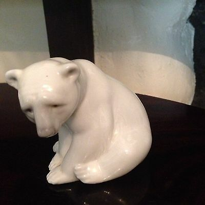 Lladro Polar Bear Figurine Porcelain Spain