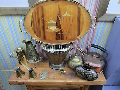 Job Lot Of Antique And Vintage Brass And Copper.