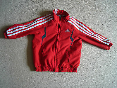Fantastic Adidas red and black jacket age 1-2 years