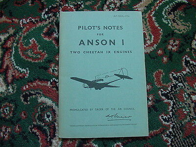 Pilot's Notes for Anson 1, Two Cheetah IX Engines