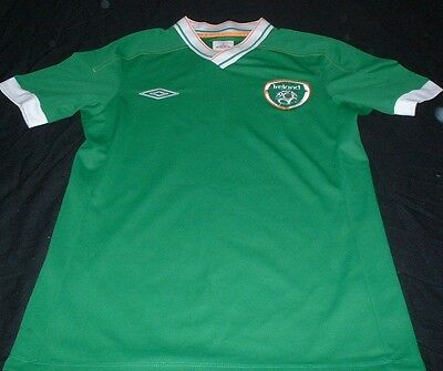 Republic of Ireland Eire FAI Football Small Mans Rare Player issue Home Jersey