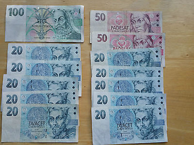 Small Lot Of Czech Currency