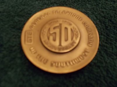 Wow! Gte 50Th Anniversary Bronze Medal!! Telephone Centennial!!