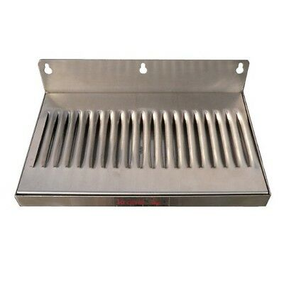 """Home Brew Stuff 6"""" x 12"""" Stainless Steel Wall Mount Draft Beer Drip Tray"""