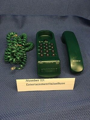 Classic Vintage SONY IT-B3 Corded Phone Telephone GREEN VGC  Free Shipping