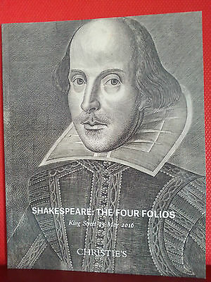 Christies Catalogue: Shakespeare The Four Folios.
