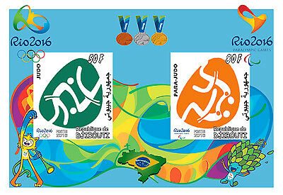 Djibouti 3 Sheets Judo Rio 2016 Olympic Games Jeux Olympiques Sports