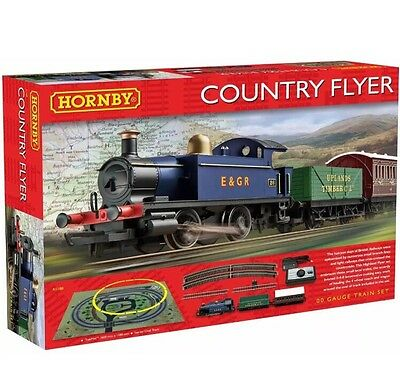 Hornby R1188 Country Flyer Electric Train Set 00 Gauge CHRISTMAS GIFT WORLDWIDE