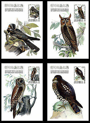 Northern Territories 16 Sheets Birds Of Prey Owls Hiboux Oiseaux Aves Eagles