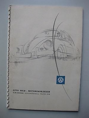 VW Käfer Cabriolet Prospekt brochure German text Deutsch 1953 1954 Bernd Reuters