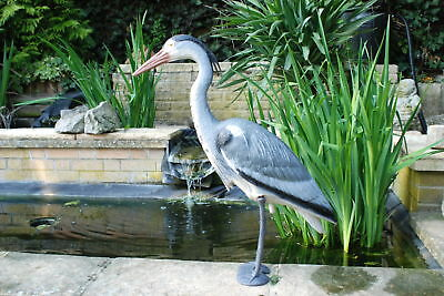Large Realistic Garden Heron Decoy For Winter Protection of All Garden Ponds