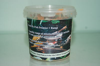 FMF Garden Pond Fish Food Flake & Pellet Premier Mix 5 ltr Tub Approx  500g