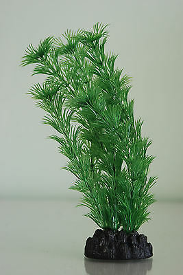 Aquarium Hornwort Green Plastic Plant 30cms High Suitable For All Aquariums