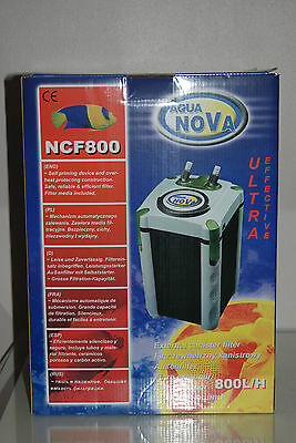 Aquarium External Filter 800 Lts Per Hour With Washable Filters Complete System