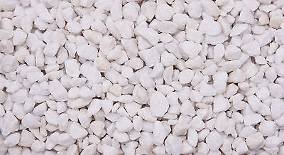 Aquarium White Coloured Gravel 3 to 8mm Grains Suitable for Aquariums 2.5kg
