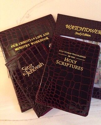 SPECIAL !!! $45 NEW WORLD TRANSLATION BIBLE COVER 4 PACK, Jehovah's Witness