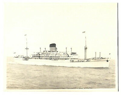SS Gothic as Royal Yacht in 1954 - Photograph from HMS Loch Quoich