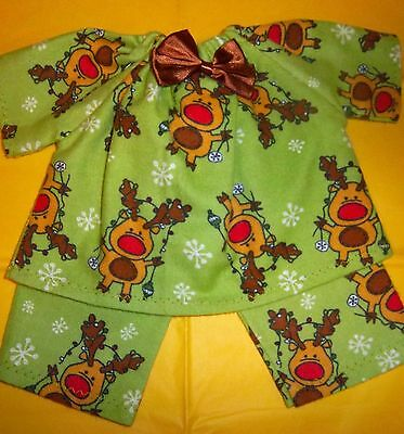 """Doll Clothes 12"""" COROLLE MON PREMIER BEBE SILLY DEER pajamas"""