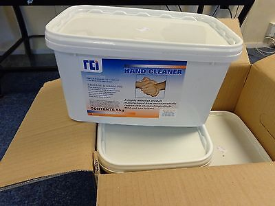 4 X HEAVY DUTY HAND CLEANER PLASTIC TUB #5 kg BOXED  RRP  £248.00