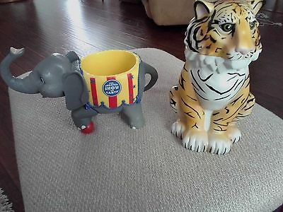 """Ringling Bros""""The Greatest Show on Earth"""" Elephant  and tiger Cup Mug"""