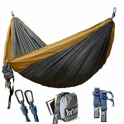 Winner Outfitters Double Camping Hammock - Lightweight Nylon Portable Best x #OE