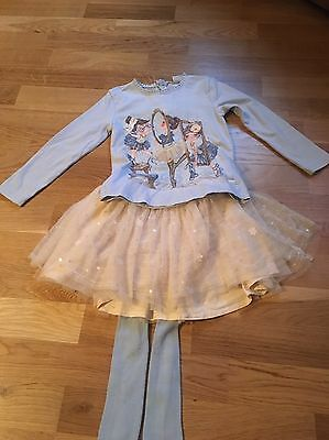 Girls Top And Skirt Outfit Age 4