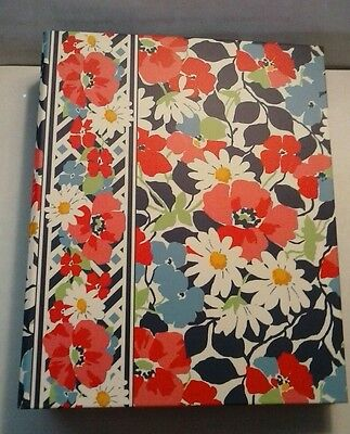 Vera Bradley - Summer Cottage Pattern Address Book 6 Ring Removable Pages