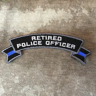 Thin Blue Line Retired Police Officer Rocker Patch