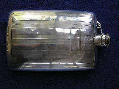 Large sterling silver flask, 3/4 pint 213 g