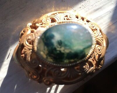 Miriam Haskell Fine Pin With Old Agate gf