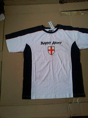BARMY ARMY T-shirt - England Cricket supporters  Official Merchandise - Small