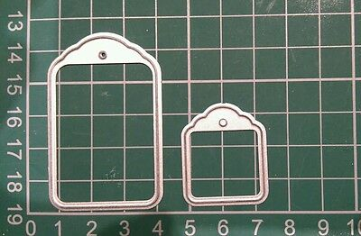 die cutter set of 2 tags perfect condition