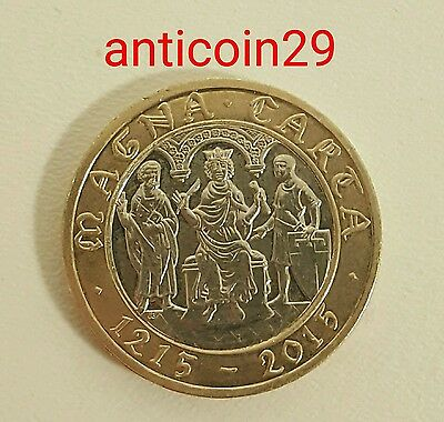 (1 Day)2015 £2 MAGNA CARTA DECLARATION 800TH ANNIVER UNCIRCULATED TWO POUND